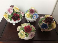 Porcelain flower arrangements by Radnor and Royal Doulton