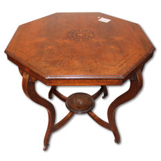 Edwardian rosewood coffee table with a central inlay - England, ca. 1910