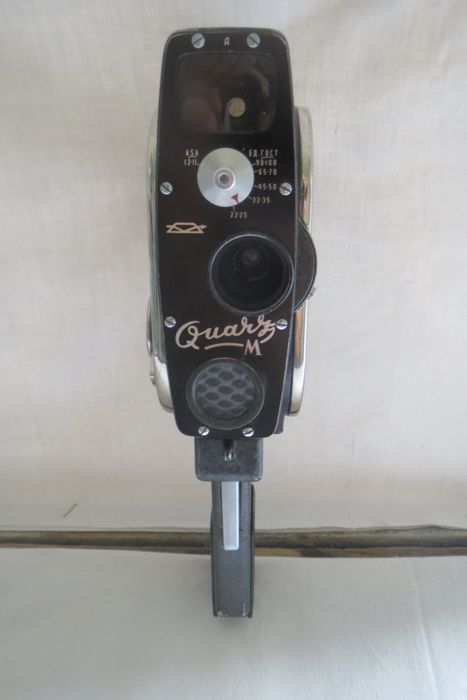 "The ""Quarz M"" movie camera (1963-1968 USSR  ). A rare export version of the Soviet Union.The lens is rigid-built ""Jupiter-24"" 1.9 / 12.5. The production of the Krasnogorsky Mechanical Plant (KMZ)"