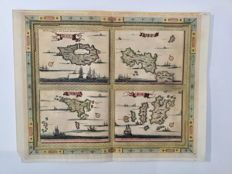 Greek Islands; Van Der Aa - Zea, Andro, Paris, Schiros - 1729