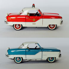 Franklin Mint - Scale 1/24 - 1956 Nash Metropolitan - Fire Chief's Car & Blue / White edition