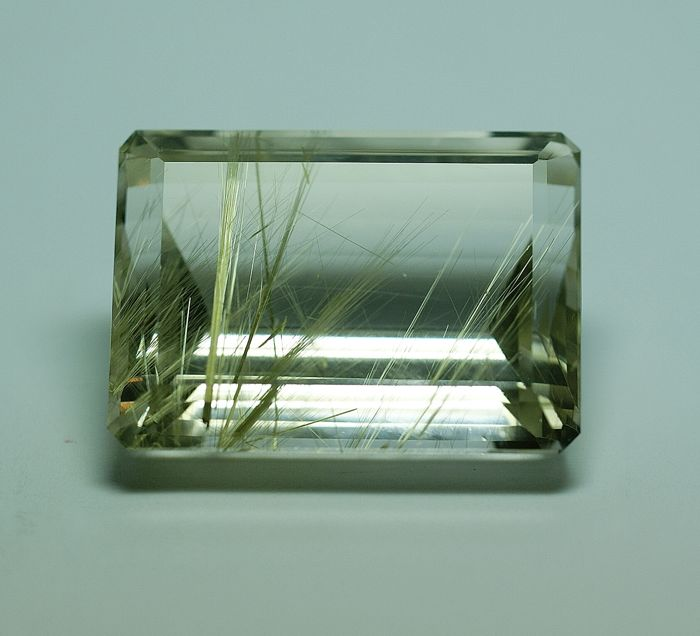 Rutilated Quartz, golden Rutile ,   99.76ct