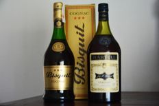 2 bottles  -   Bisquit Fine Conhac three stars Old  Bottling durig 1970s 70 cl  40%vol  -  Martell Very Special Three Stars 40º Gl  94,6 cl