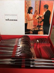Heavy silver plated Wilkens cutlery box Germany