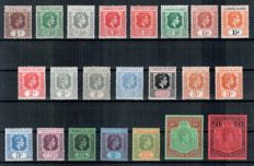 Leeward Islands, George VI 1938-51 - Selection on stock card