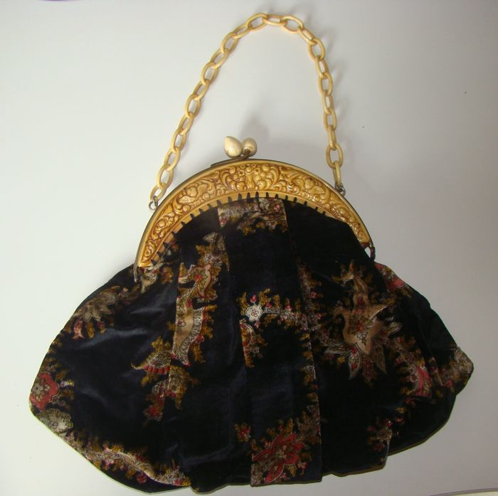 Beautiful celluloid bag - France - circa 1920 Art Nouveau