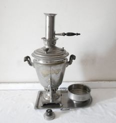 Nicolas II /samovar set in in silver plated bronze or brass / Russia / 1896 /