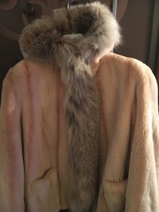 Martiurano - coat in shaved beige mink fur. High quality