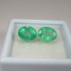 2.46 Ct - Emerald Pair - No Reserve Price
