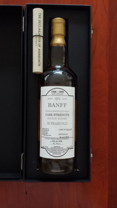 Banff Cask Strength 33 years old 1974