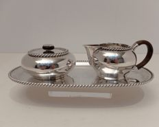 Cream set, solid silver, Germany, 20th century