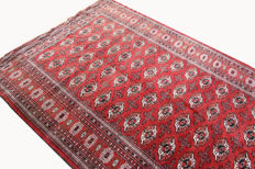 Bukhara Turkmenistan, 2.60 x 1.85, genuine hand-knotted Oriental carpet, Caucasus carpet, collector's edition