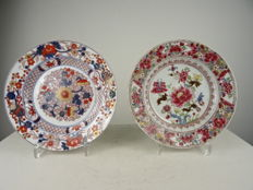 Samson - Two porcelain plates, ca 1900