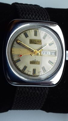 Sicura Automatic 25 Jewels from 70´s, 39mm – Just Serviced and Rechromed