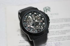 Pierre Kunz G403 Sport Chronograph Black PVD Case Skeleton Dial - Men's Watch - 2013