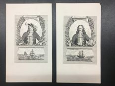 "Complete collection of 30 engraving ""Ritratti di Uomini Illustri Francesi"""