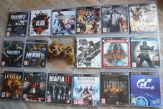 Lot off 17 PS3 games pieces with controller
