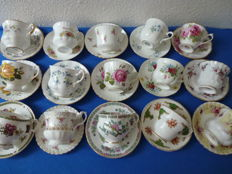 30 pieces of beautiful exclusive porcelain English Gentlemen's cups and saucers  - Royal Albert,Royal Standard,Royal Stafford and many others.