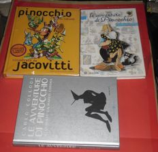 "Jacovitti, Benito and Corona, Marco - 3x illustrated volumes of ""Pinocchio"""