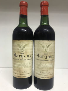 1964 Ginestet Margaux, Bordeaux, France , 2 bottles 0,75l