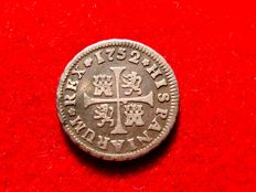 Spain – Fernando VI (1746–1759) – 1/2 real silver coin –  Madrid, 1752