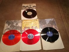 Lot of 4 very difficult to find Taiwan records, three of them on coloured wax