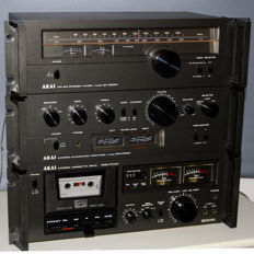 Complete Akai  hi-fi system -  AM 2350 Stereo amplifier + AT 2250 Tuner + CXC-704D Tape deck