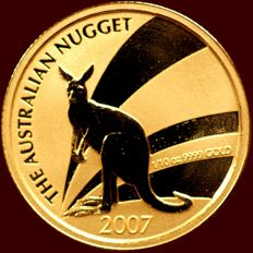 Australia - 15 Dollar 2007 'The Australian Nugget' - 1/10 oz Gold