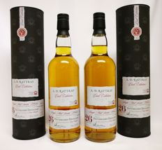 2 bottles - Fettercairn 26 Year Old 1989 (cask 001) - Cask Collection (A. D. Rattray) (70cl, 54.5%) Discontinued.