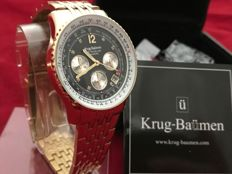 Krug Baümen Air Traveller Diamond Gold – Men's wristwatch – Never worn, in mint condition