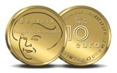 "Golden Tenner - golden 10 euros coin 2004 ""Europe"""