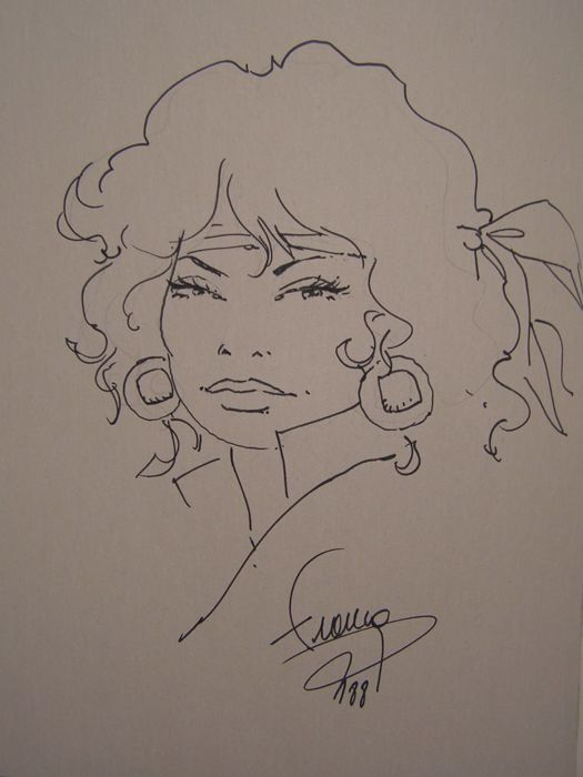 Francq, Philippe - Original commission drawing (without name) - Vrouwen en steden 2 - sc - (1988)