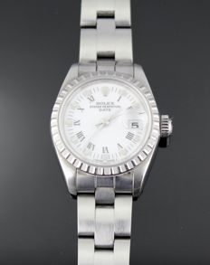 Ladies' Rolex 69240 steel watch with date
