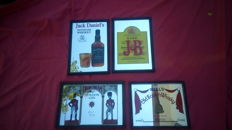 Lot of 4 whisky advertising mirrors