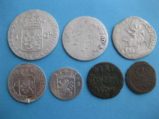 Provincial - Lot of various 1553 / 1787 (7 pieces) including silver