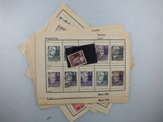 GDR of East Germany  1952/1953 – collection on selection pages, Michel 323/341,