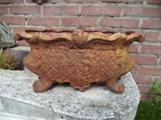 Cast iron window box in Baroque style - France - 20th century