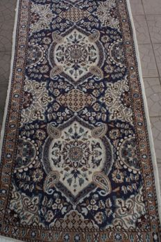 Wonderful & Original Persian Iran Nain 400x 90 cm Handknotted around 2005 Top Quality & Condition