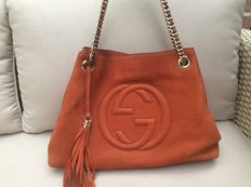 Gucci - Nubuck Leather Soho Bag Orange + Wallet