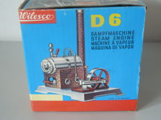 Wilesco, W. Germany - Length 20 cm - Steam engine D-6, around 1970