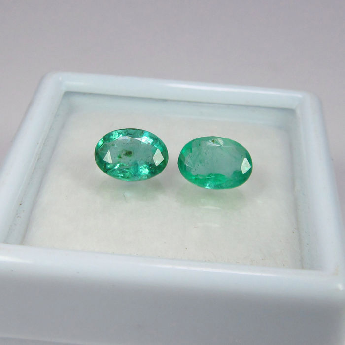 Emerald Pair - 1.17 ct