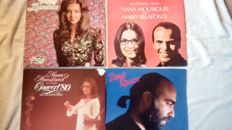 a really great lot of Greek/German artists; 16 albums by Nana Mouskouri, including 2 doublealbums and a 4 album box, 8 albums by Vicky Leandros including 1 doublealbum and 3 albums by Demis Roussos.
