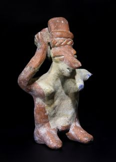 EXHIBITED Pre Columbian Nayarit Female Figure - 12 cm.