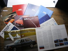 Collection of 10 BMW 3-Series Brochures: 5 copies USA edition + 5 Brochures in Dutch. Period 1975-1985.