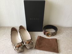 Gucci ballerinas size 38.5 with Gucci Belt