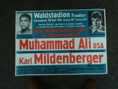 1 poster of the fight Muhamed Ali against Karl Mildenberger on the 9.10.1966 in Waldstadion Frankfurt