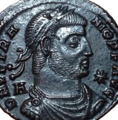 The Roman Empire - Vetranio (350 AD) - Æ Maiorina (23mm; 4,11g.) - Siscia mint, 350 AD - Bust / Vetranio - RIC VIII, 289 - Rare