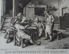 Unknown artist, after David Teniers pinx - Les divertissements des Flamands