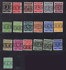 Allied occupation Bizone 1948 - Net and band overprints