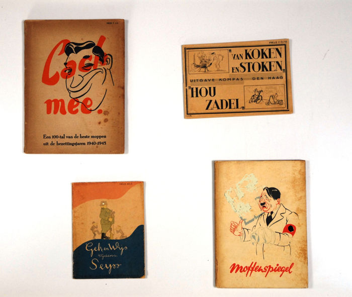 Satire Lot With 4 Humorous Editions From About World War Ii